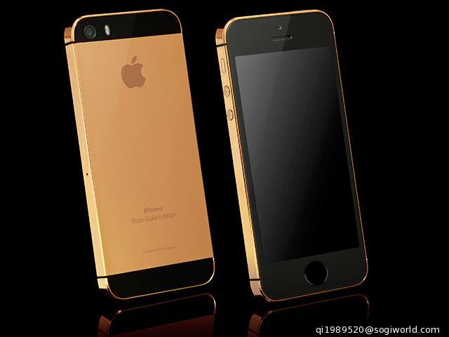 真正土豪金!24k镀金版苹果iphone