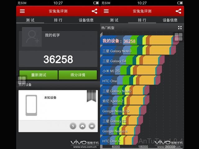 vivo xplay 3s屏幕或为5.7寸 515ppi 疑安兔兔跑分3万