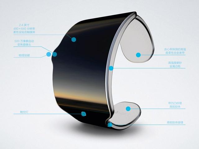 魅族智能手表mwatch设计方案释出 采柔性屏幕
