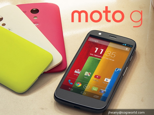 MOTO G from MOTOROLA website