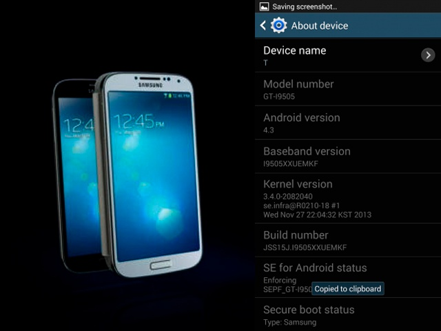 SAMSUNG, GALAXY S4, Android 4.3 Jelly Bean update, Australia