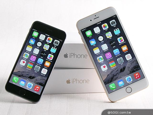 iPhone 6(左)机身尺寸 138.1 x 67 x 6.9mm,重量 129g。尺寸较大的 iPhone 6 Plus(右)则是 158.1 x 77.8 x 7.1mm,重量 172g。后者机身大相当多也重一些,但两款手机都很纤薄,圆弧的边缘线条使得手感更加服贴。