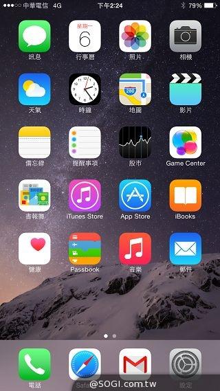 苹果继 iPhone 5 从 3.5 英寸升级至4 英寸之后,最新推出的 iPhone 6、6 Plus 手机再次将屏幕放大,一次提供 4.7 英寸与 5.5 英寸两种版本。两款产品均采用全新 64 位 苹果 A8 处理器 + M8 协同晶片、1GB RAM,以及 iOS 8 操作系统,并搭载800 万像素 F2.2 光圈 iSight 主相机+ HD 万像素前镜头,双 LED 闪光灯,可拍摄最高 240FPS 的慢动作影片与最高 4,300 万像素的全景照片,并支援 LTE 与 Wi-Fi ac 无线网