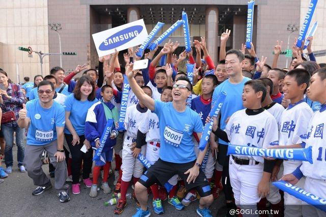 《e起跑向未來 – 2014第10屆 Samsung公益路跑》路跑大使庾澄慶 健康分享愛