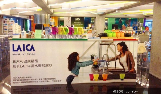「Artr北美館塗鴉餐廳」採用義大利萊卡濾水壺和濾芯作為店內飲用水