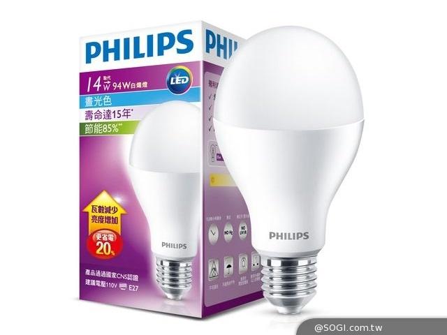 飛利浦LED燈泡雙喜臨門 率先取得燈泡節能標章 再獲國家建築金獎