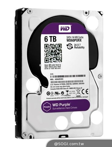 WD擴展監控系統級硬碟系列 推出6 TB主攻物聯網「霧端」監控環境