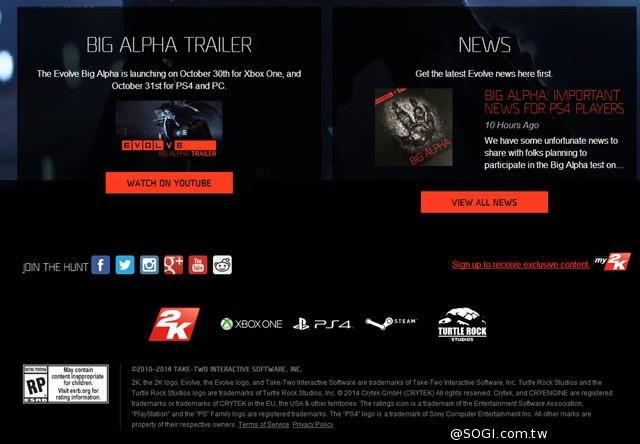 重要!《惡靈進化》Big Alpha PS4 平台測試延期