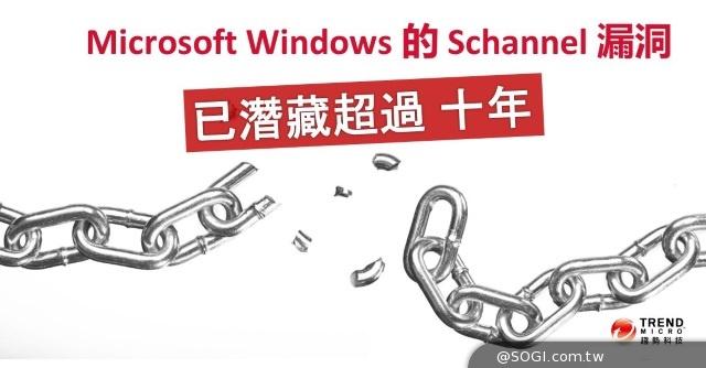 趨勢科技提醒大眾 注意Microsoft Windows的SChannel (安全通道)漏洞