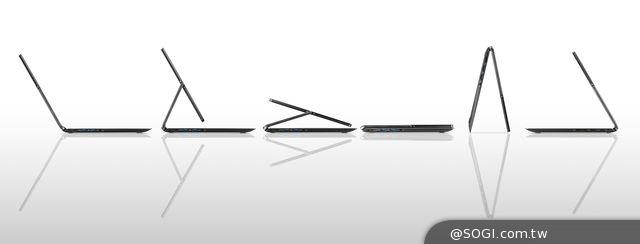 宏碁可翻轉 輕薄觸控筆電Aspire R13 台北資訊月開賣