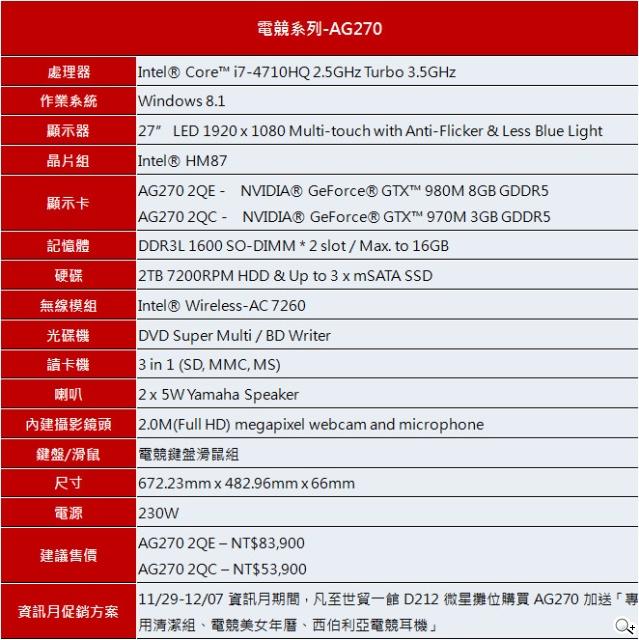 2014微星資訊月All-in-One電競新品搶市 好禮雙重送