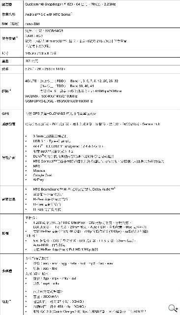 HTC 10发布:S820+4G运存+前后OIS相机