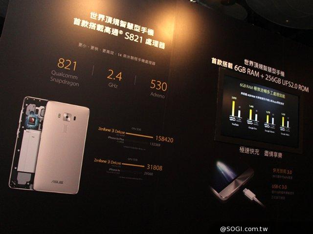 華碩Zenfone 3 Deluxe搶下高通S821全球首發